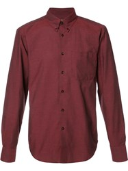 Naked And Famous Button Down Shirt Red