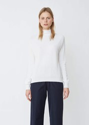 Aspesi Cotton High Neck Sweater White