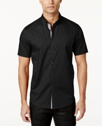 Inc International Concepts Men's Larento Stretch Shirt Only At Macy's Black