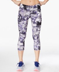Ideology Printed Cropped Leggings Only At Macy's Stone