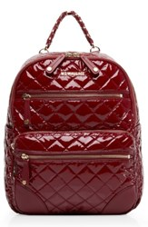 M Z Wallace Mz Small Crosby Backpack Red Cranberry Lacquer