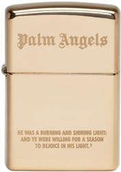 Palm Angels Gold Zippo Edition Lighter