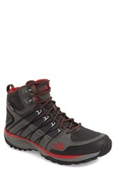 The North Face Men's 'Litewave Explore' Waterproof Boot Sedona Sage Grey Pompeian Red
