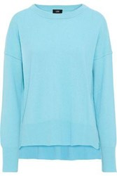 Line Woman Neon Cashmere Sweater Turquoise
