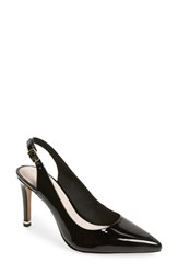 Kenneth Cole New York Riley 85 Slingback Pump Black Patent Leather