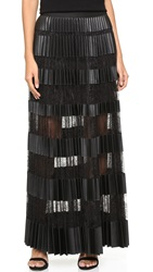 Bcbgmaxazria Striped Maxi Skirt Black