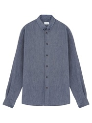 Jigsaw Flannel Herringbone Shirt Blue