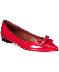 Cole Haan Alice Skimmer Bow Flats Women's Shoes Red