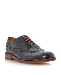 Bertie Braxton Hi Shine Lace Up Brogues Black
