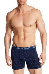 Lucky Brand Geo Print Boxer Brief Blue