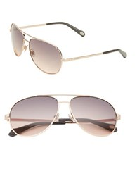 Fossil 59Mm Aviator Sunglasses Rose Gold
