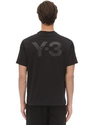 Y 3 Classic Cotton Jersey T Shirt Black