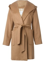 Max Mara Hooded Wrap Coat