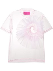 Viktor And Rolf Sheer T Shirt Pink And Purple