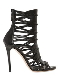 Le Silla 120Mm Woven Leather Cage Sandals