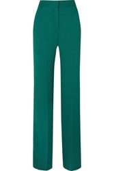 Antonio Berardi Crepe Wide Leg Pants Green