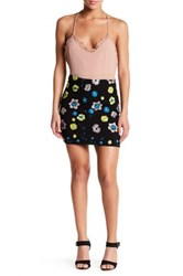 Endless Rose Embroidered Knit And Sequin Woven Skirt Multi