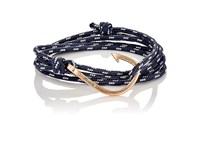 Miansai Men's Hook On Rope Wrap Bracelet Black