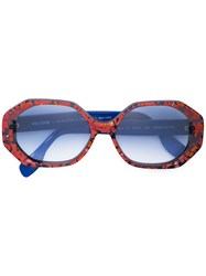 Rosie Assoulin Oversized Sunglasses Red
