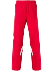 Tim Coppens Pieced Joggers Cotton Polyamide M Red