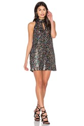 Cynthia Rowley Sequin Shift Dress Black