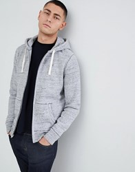 Hollister Seagull Icon Logo Full Zip Hoodie In Grey Marl Grey Marl