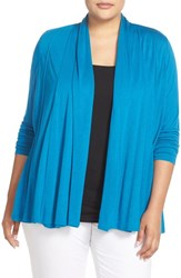 Ellen Tracy Plus Size Women's Drape Front Cardigan Riverside