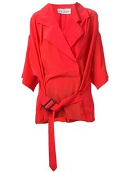Gianfranco Ferre Vintage 80S Wrap Shirt Red