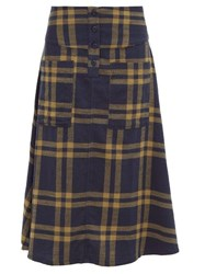 Ace And Jig Maisie Cut Out Pocket A Line Cotton Skirt Navy Multi