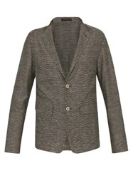 The Gigi Starman Cotton And Linen Blend Blazer Brown