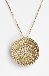Melinda Maria 'Nicole' Pendant Necklace Gold Clear