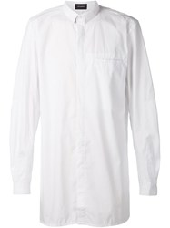 Stampd 'Elongated Button Down' Shirt White