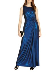 Phase Eight Caro Shimmer Full Length Dress Blue Shimmer