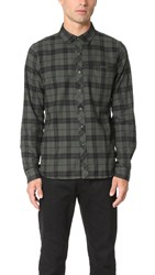 Native Youth Beach Check Shirt Olive