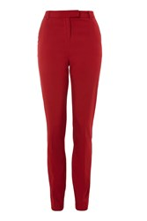 Topshop Tall High Waisted Cigarette Trousers Brick