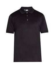 Brioni Short Sleeved Cotton Jersey Polo Shirt Navy