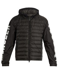 Moncler O Tablier Hooded Down Jacket Black Multi