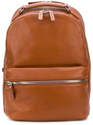 Shinola Front Pocket Backpack Leather Brown