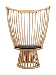 Tom Dixon Fan High Back Wooden Chair Brown