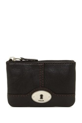 Fossil Marlow Leather Zip Coin Pouch Black