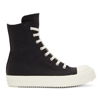 Rick Owens Drkshdw Black And White High Top Sneakers