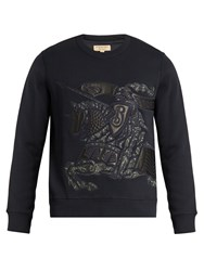 Burberry Equestrian Knight Applique Sweatshirt Navy Multi