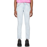 Off White Blue Skinny Jeans