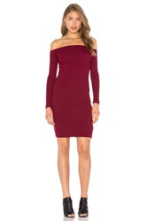 Capulet Shoulderless Bodycon Dress Burgundy