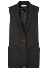 Damsel In A Dress Taylor Sleeveless Jacket Grey