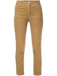 Cityshop Corduroy Skinny Trousers Nude Neutrals