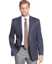 Tasso Elba Classic Fit Blue Multi Sport Coat Only At Macy's