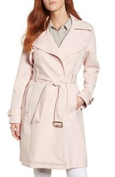 French Connection Flowy Belted Trench Coat Blush