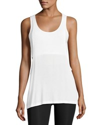 Beyond Yoga On And Off Ribbed 2 Fer Tank Top White