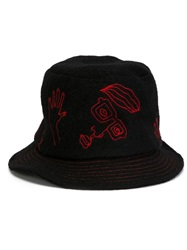 Ca4la Portrait Motif Hat Black